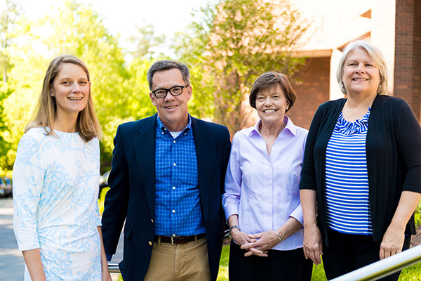 NeighborHealth leaders outside our medical building: (left to right) Nicole Herriott, FNP-BC, Rick Donlon, MD, Susanne Berger, BSN, RN and Sue Ellen Thompson, MSN, RN, NEA-BC.