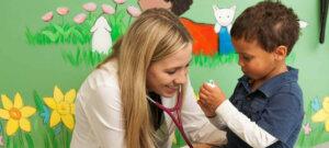 NeighborHealth Betsy Joyner with Child Patient